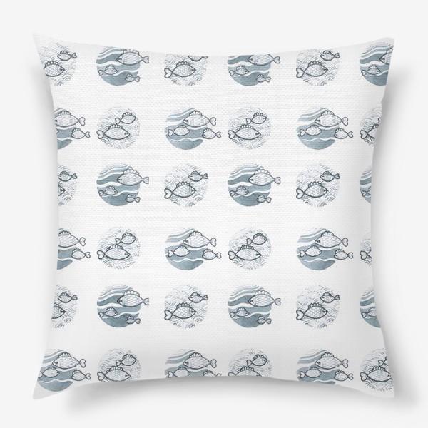 Подушка «паттерн рыбы»