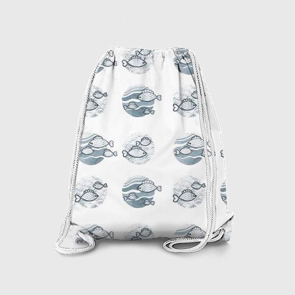 Рюкзак «паттерн рыбы»