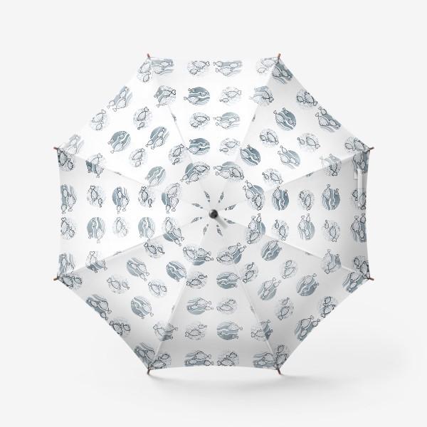 Зонт «паттерн рыбы»