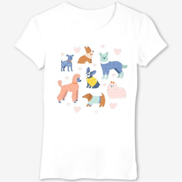 Футболка «Собаки на прогулке»