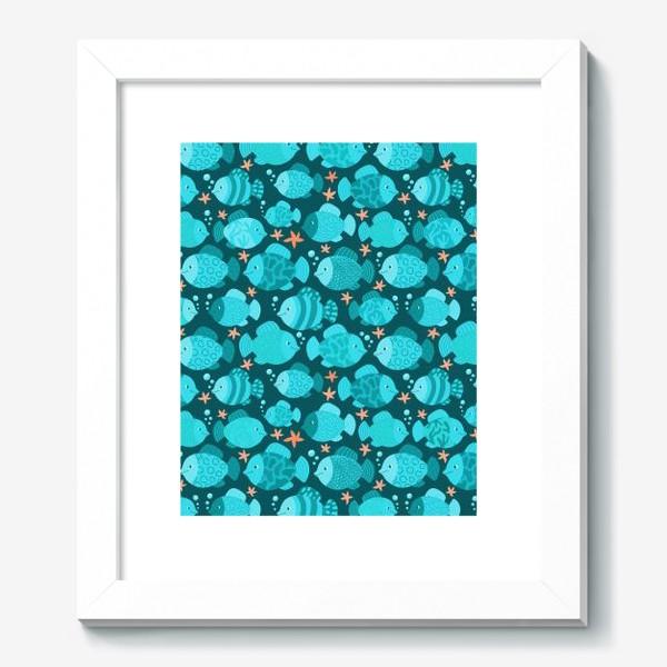 Картина «Синие рыбки»