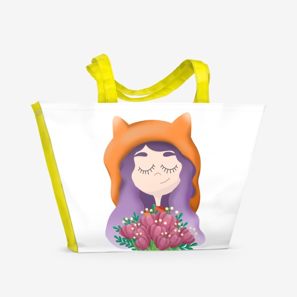 Пляжная сумка «Девочка - лисичка»