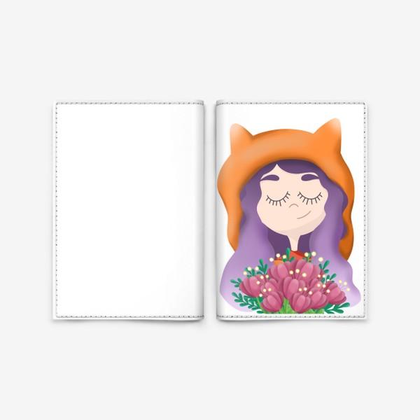 Обложка для паспорта «Девочка - лисичка»