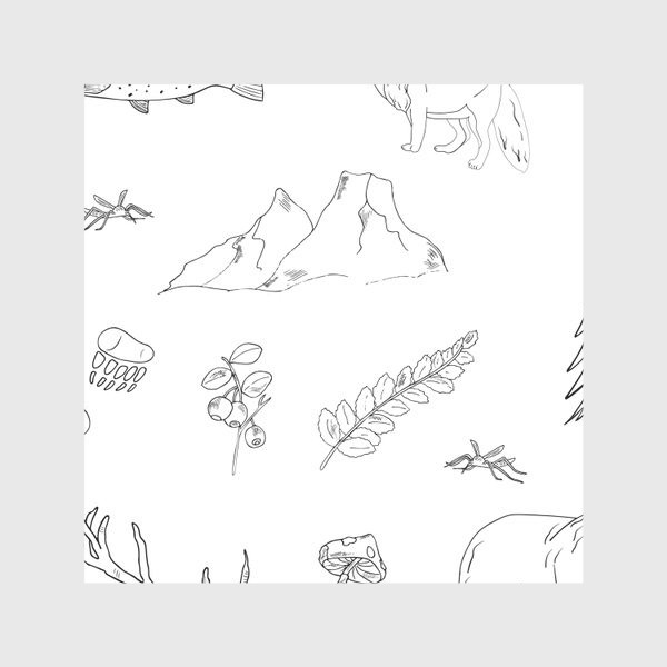 Скатерть «поход в лес»