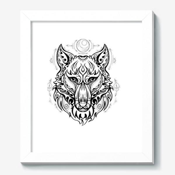 Картина «Волк с символами »