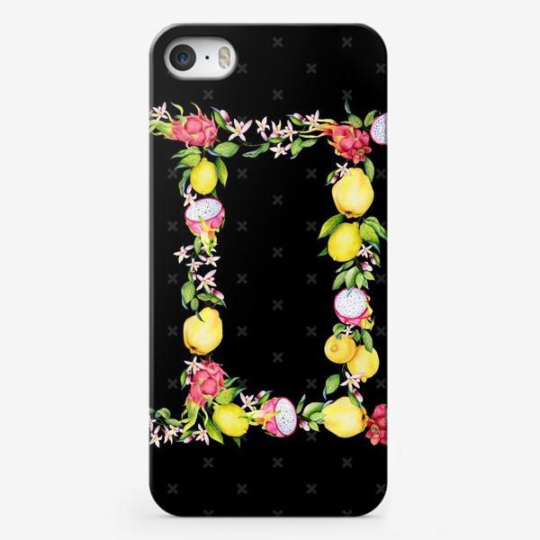 Чехол iPhone «Близнецы. Акварельные фрукты»