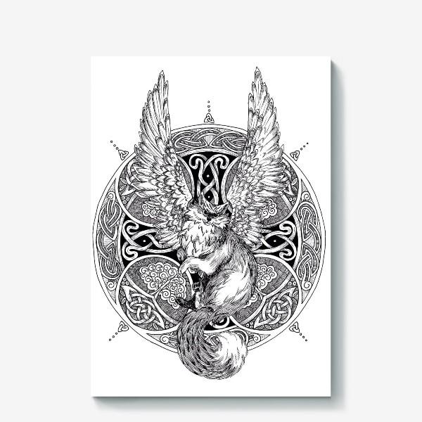 Холст «крылатый кот»