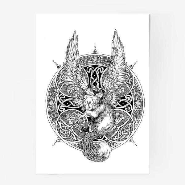 Постер «крылатый кот»
