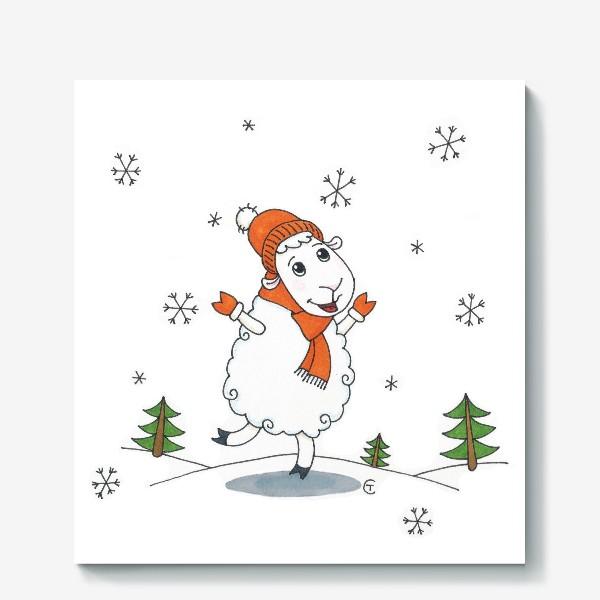 Холст «Снегопад»