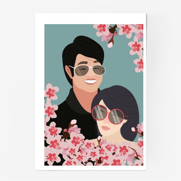 Постер «Пара японцев»