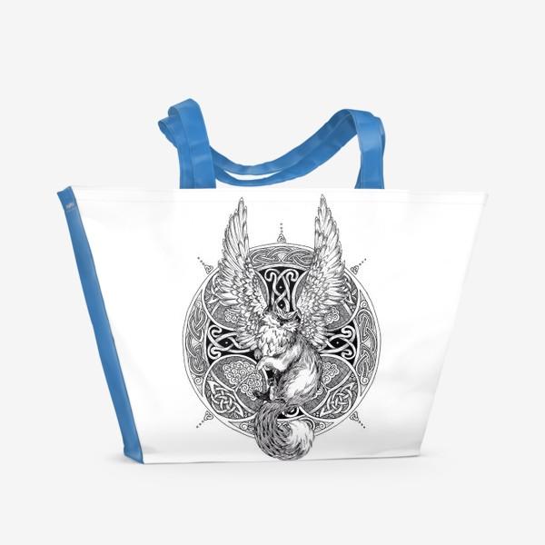 Пляжная сумка «крылатый кот»