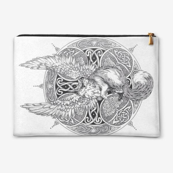 Косметичка «крылатый кот»