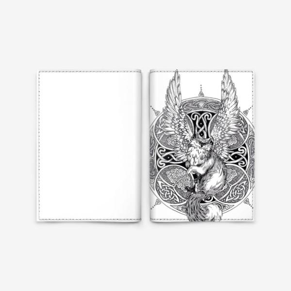 Обложка для паспорта «крылатый кот»