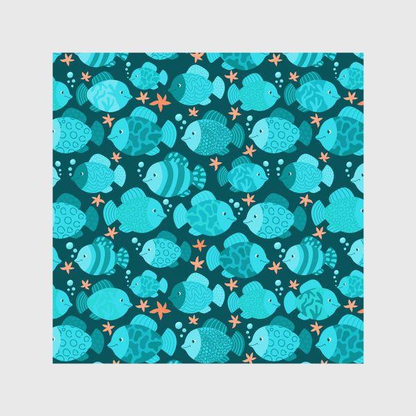 Шторы «Синие рыбки»