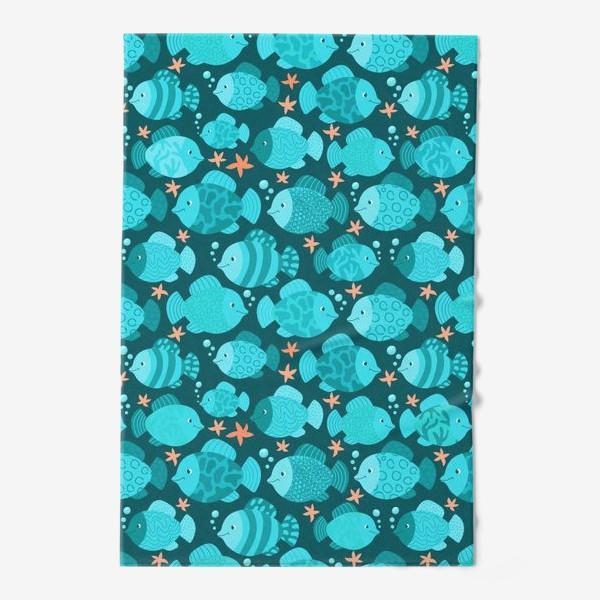 Полотенце «Синие рыбки»