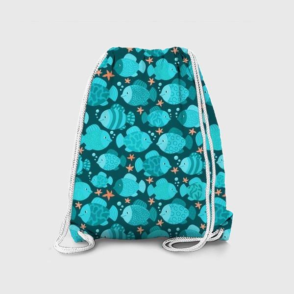 Рюкзак «Синие рыбки»
