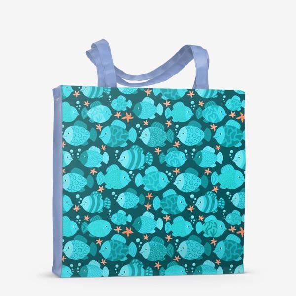 Сумка-шоппер «Синие рыбки»