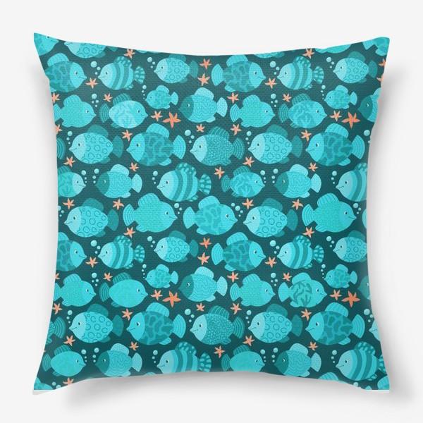 Подушка «Синие рыбки»