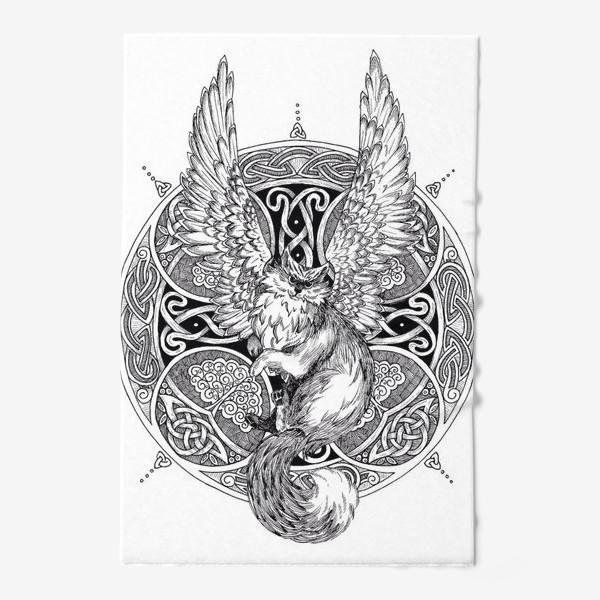Полотенце «крылатый кот»