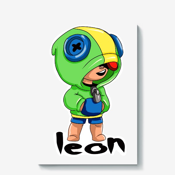 Холст «Brawl Stars. Leon»