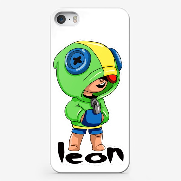 Чехол iPhone «Brawl Stars. Leon»