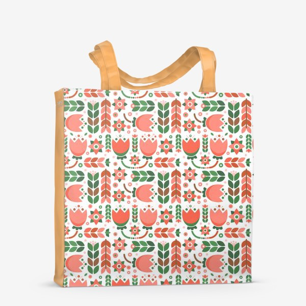 Сумка-шоппер «Геометричные тюльпаны»