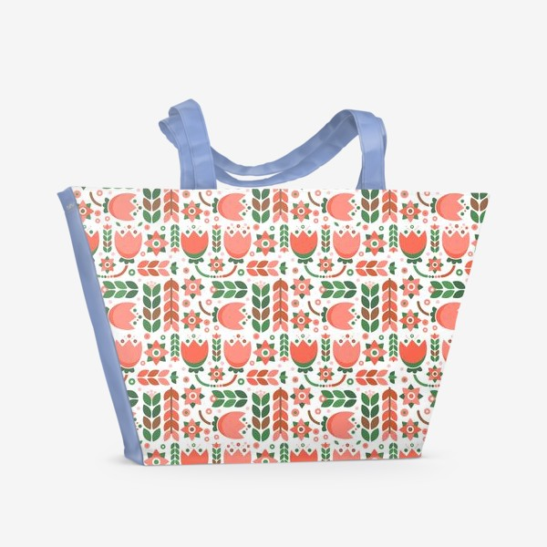 Пляжная сумка «Геометричные тюльпаны»