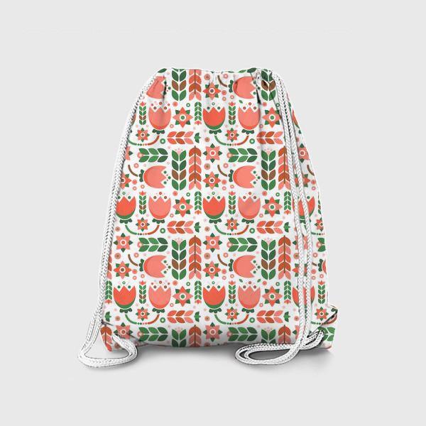 Рюкзак «Геометричные тюльпаны»