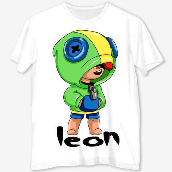Футболка с полной запечаткой «Brawl Stars. Leon»