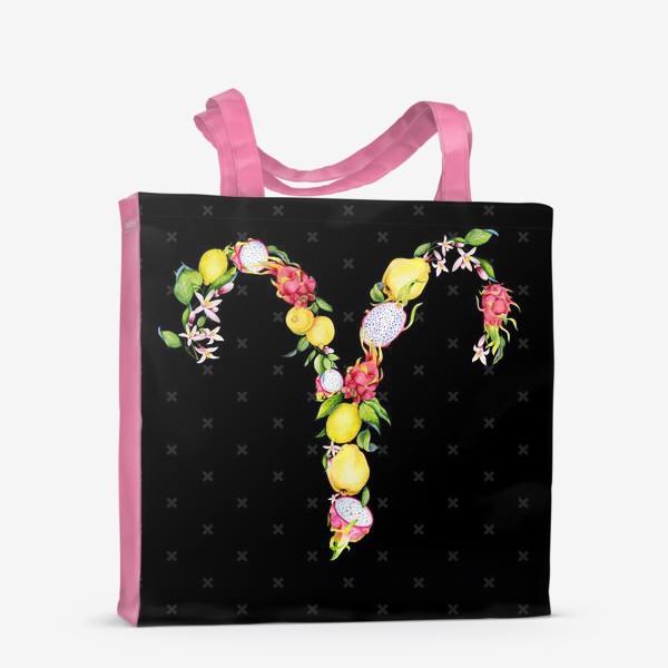 Сумка-шоппер «Овен. Акварельные фрукты»