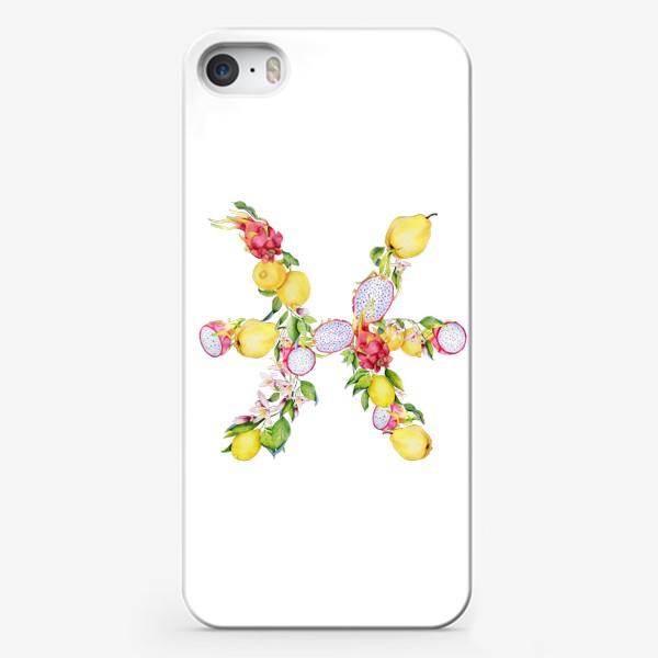 Чехол iPhone «Рыбы. Акварельный зодиак. Подарок рыбам»