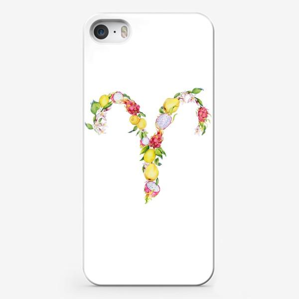 Чехол iPhone «Овен. Акварельный зодиак. Подарок овну»