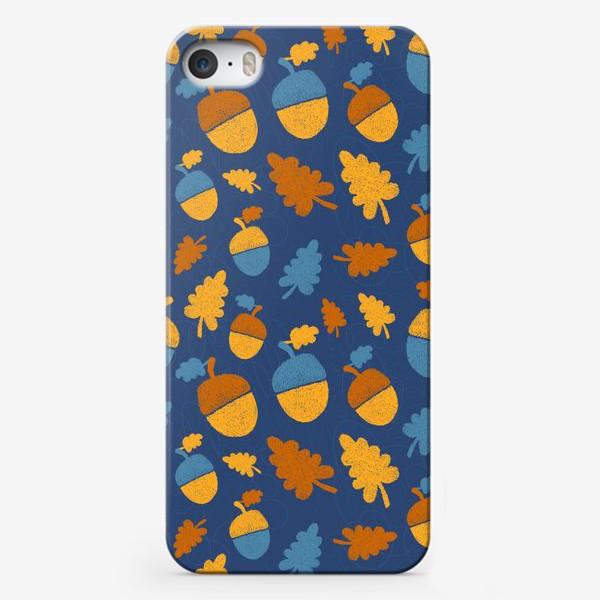 Чехол iPhone «Желуди на синем»