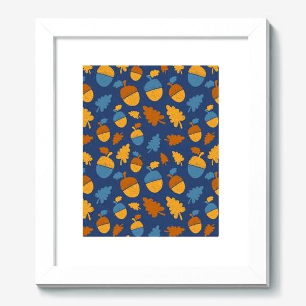 Картина «Желуди на синем»