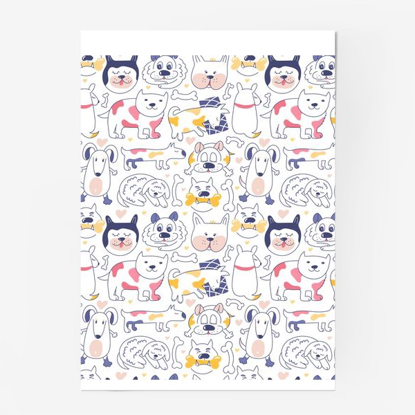 Постер «Собаки line art»
