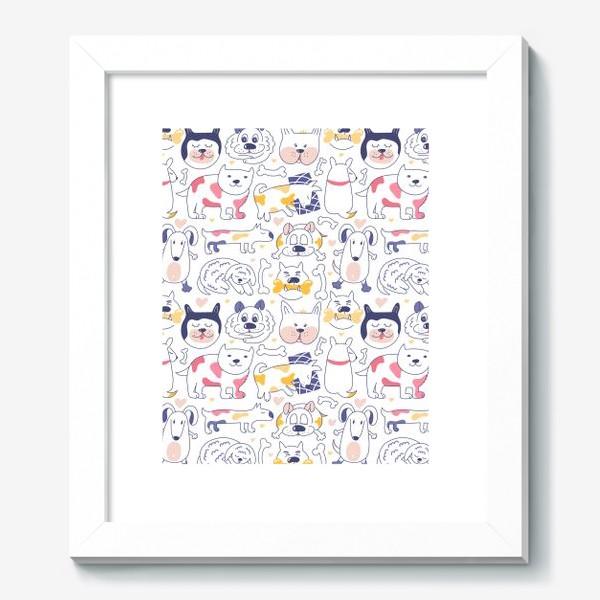 Картина «Собаки line art»