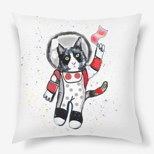 Подушка «Кот в космосе»