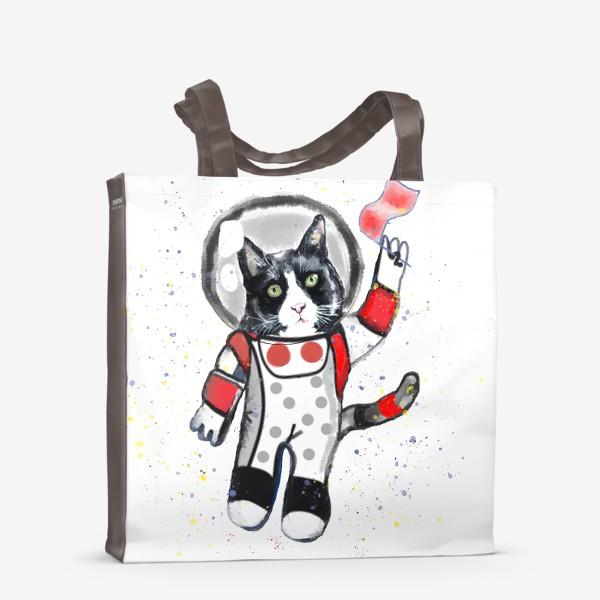 Сумка-шоппер «Кот в космосе»