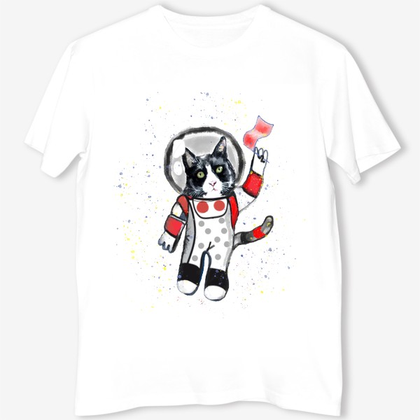 Футболка «Кот в космосе»