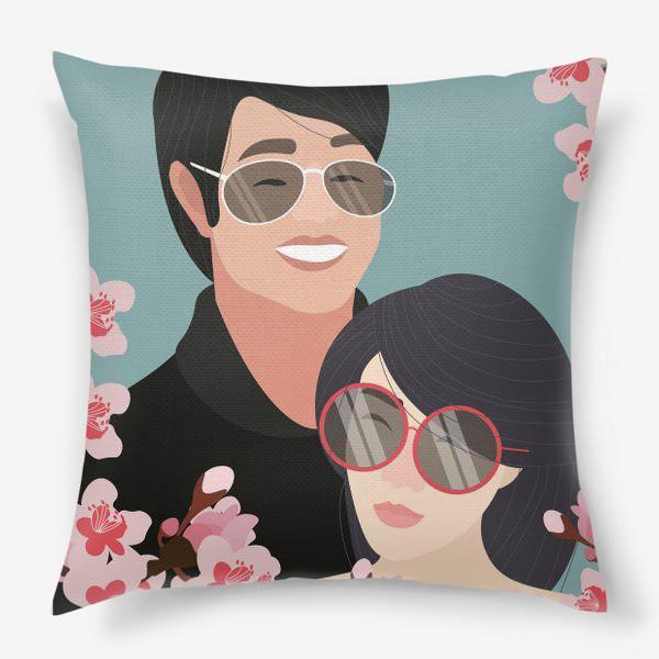 Подушка «Пара японцев»