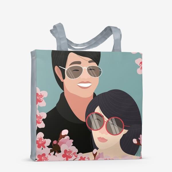 Сумка-шоппер «Пара японцев»