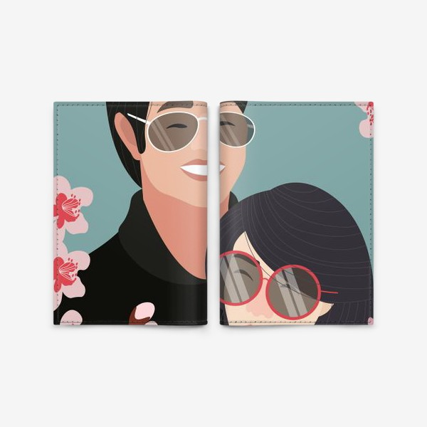 Обложка для паспорта «Пара японцев»