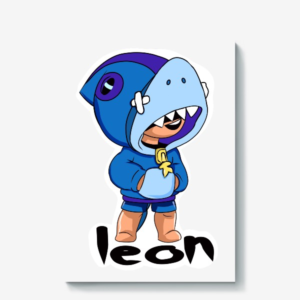 Холст «Brawl Stars. Leon Shark»