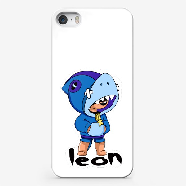 Чехол iPhone «Brawl Stars. Leon Shark»