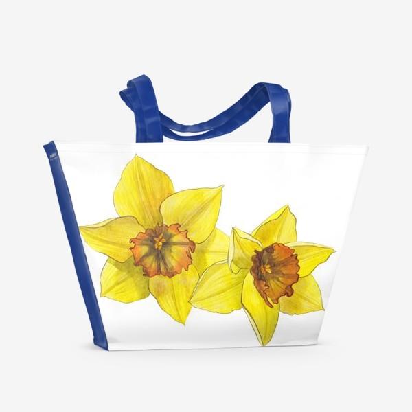 Пляжная сумка «Нарциссы»
