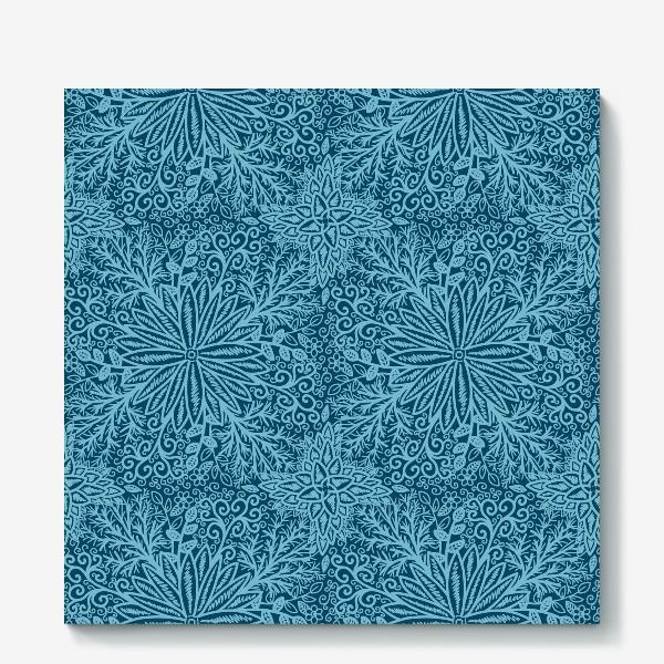 Холст «Голубые растения»