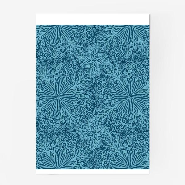 Постер «Голубые растения»