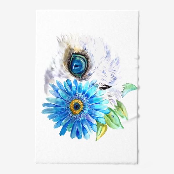 Полотенце «сова и цветок»