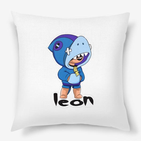 Подушка «Brawl Stars. Leon Shark»