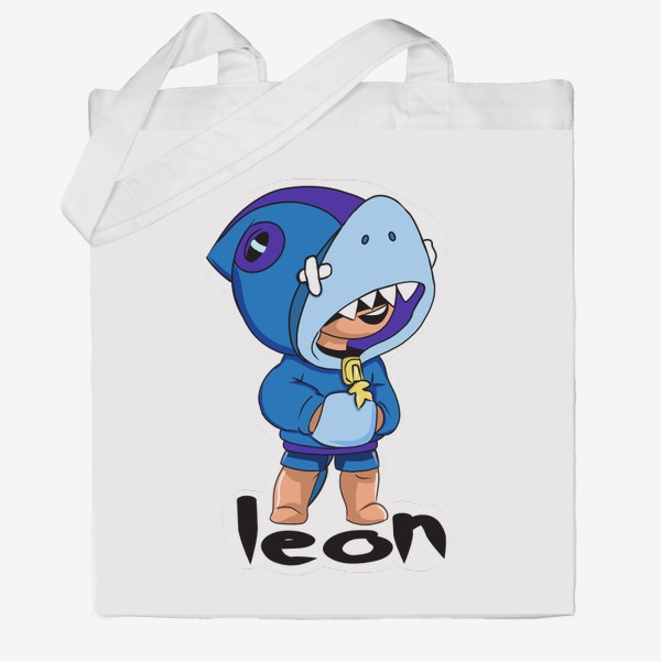 Сумка хб «Brawl Stars. Leon Shark»